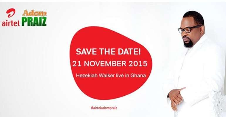 Airtel hosts Hezekiah Walker ahead of Airtel Adom Praiz 2015