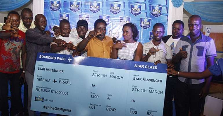 Star Celebrates Lucky Winners As They Leave For Brazil