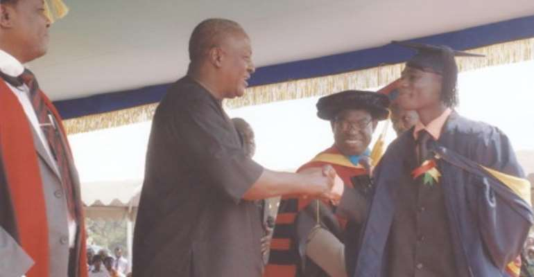 Vice President John Mahama at the 10th Congregation of Takoradi Polytechnic.