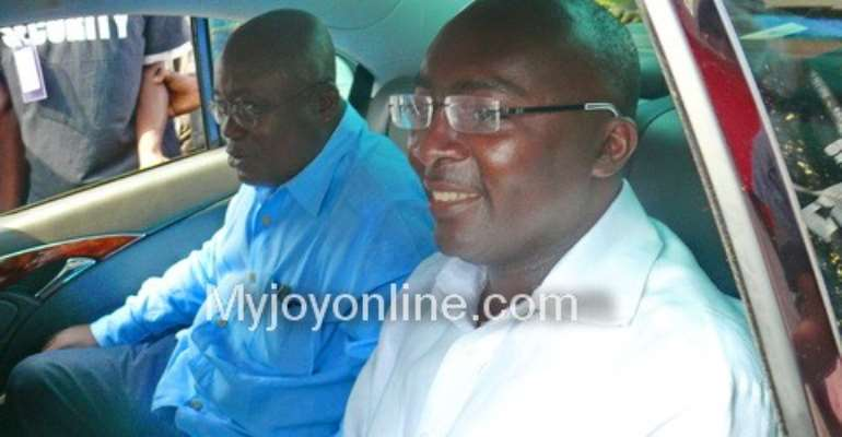 Nana Akufo-Addo (L) is likely to go with Dr Bawumia (R)