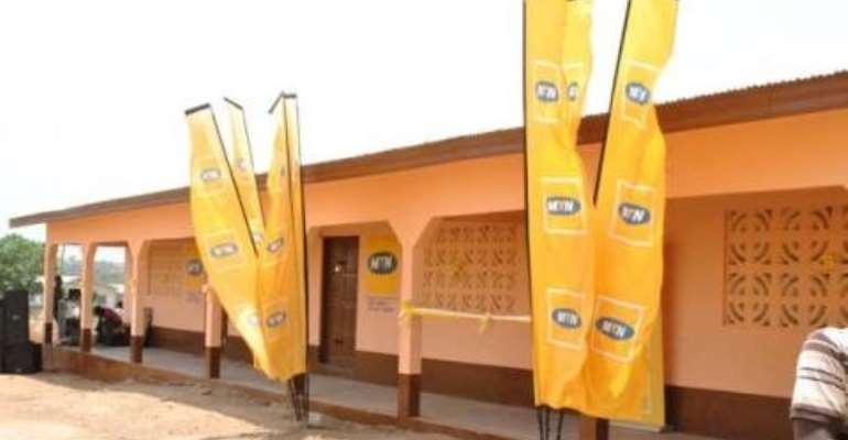Four Classroom block built by MTN at Obeyeyie