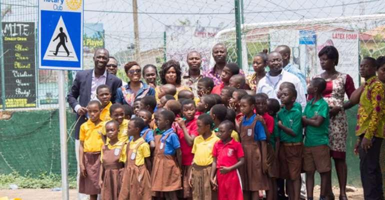 Dzorwulu Rotary commissions pedestrian crossing for Community Basic School