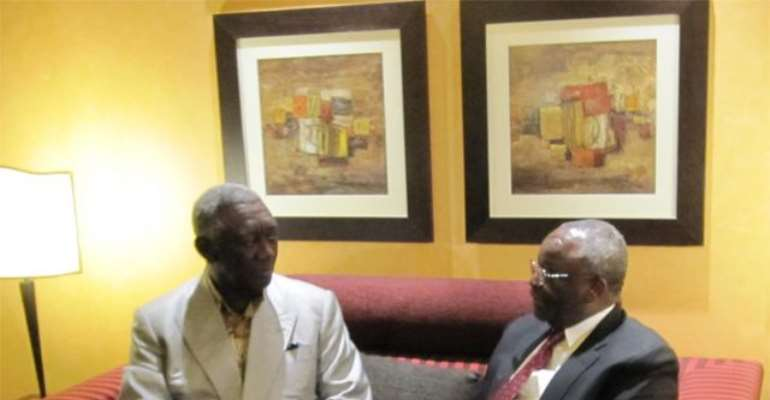 Ghanaian President John Kufuor meets with UNAMID JSR Gambari