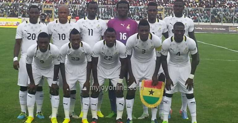 Ghana's line-up against Zambia last Friday.