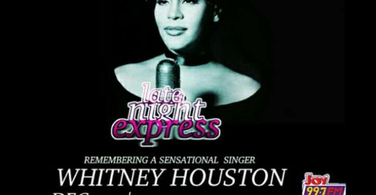 Late Night Express to celebrate Whitney Houston Tuesday