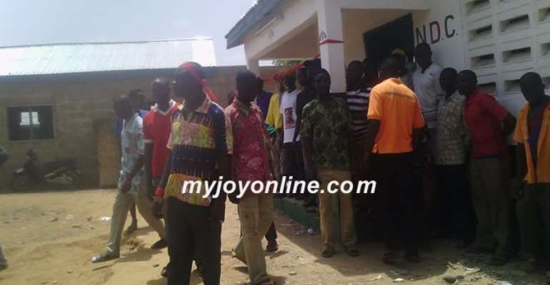 Irate NDC youth threaten to burn party properties in two weeks