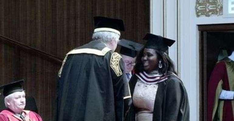 Distinction in MA International Relations: Asamoah Gyan Foundation produce first graduate