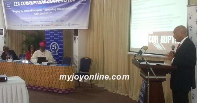 IEA: Ghana's tolerance for corruption increases