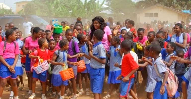 Chika Ike Awards 5 Students With Scholarship In Asaba On Her Birthday
