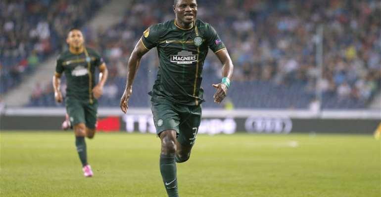 Ghana and former Espanyol midfielder Wakaso now with Celtic