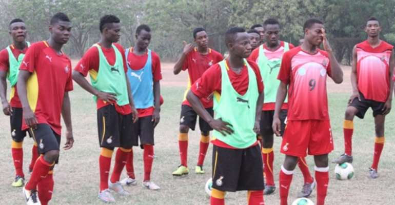 Trialists in Ghana U20 camp