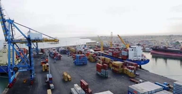 The Tema Port.