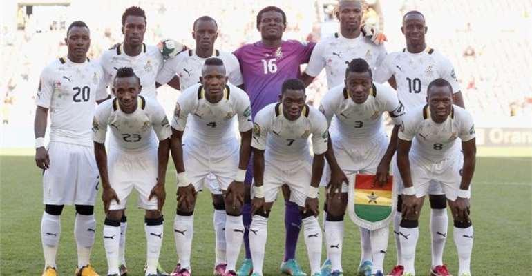 Starsing line up of Ghana Black Stars
