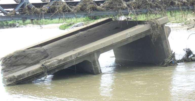 Kulungugu bridge nears collapse