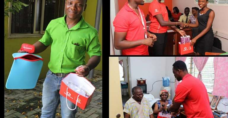 Vodafone Ghana's Senior Management Surprise Loyal Customers During '5 Days Of Care'
