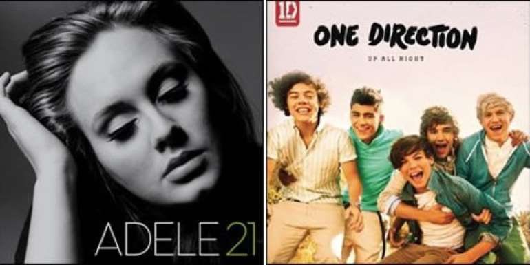 Adele and One Direction have both scored number one albums this year