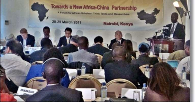 James Shikwati addresses Africa-China conference delegates