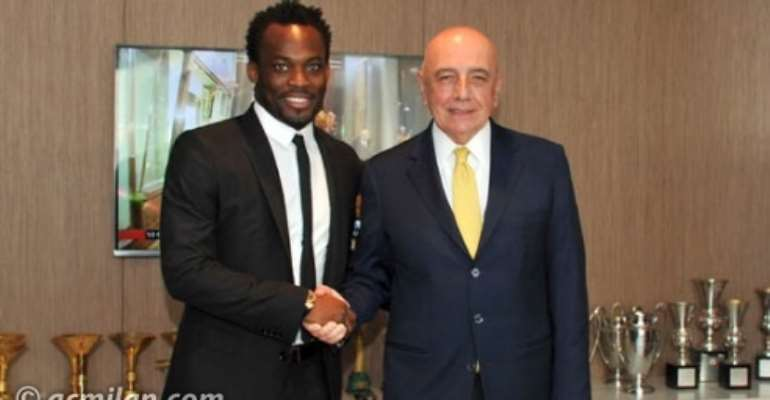 World Cup dreams helped Ghana's Essien to sign for AC Milan