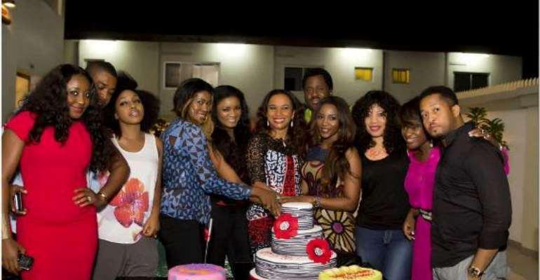 Omotola, Genevieve, Ini Edo, Uche Jombo, Others Lighten Ibinabo's Birthday Party