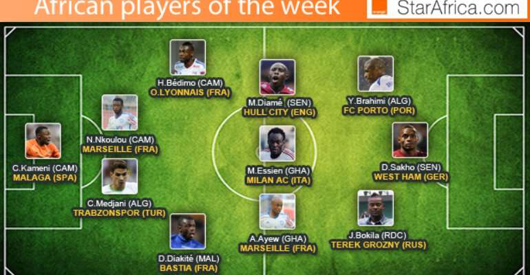 Ghana duo Andre Ayew and Michael Essien named StarAfrica team of the week