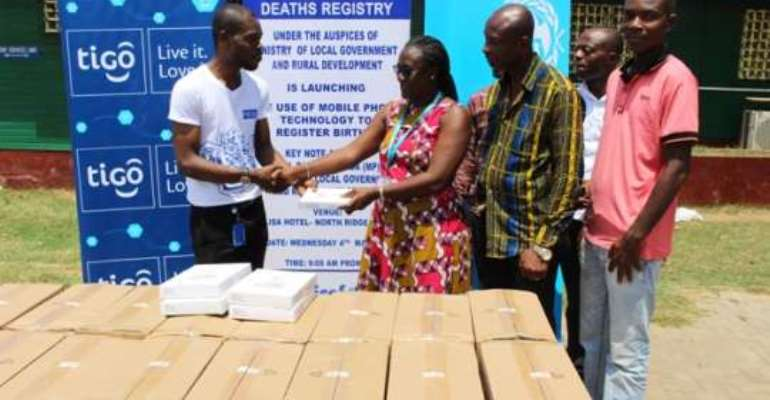 Tigo donates tablets to boost Automated Birth Registration