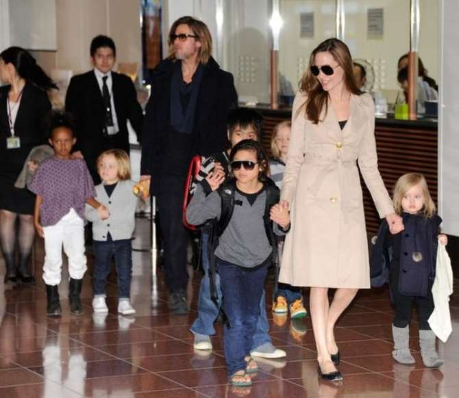 Brad Pitt and Children
