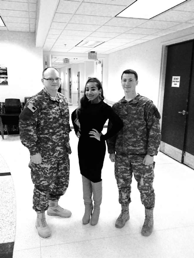 Princess Halliday Motivational speech at the Army Logistical University Fortlee Virginia