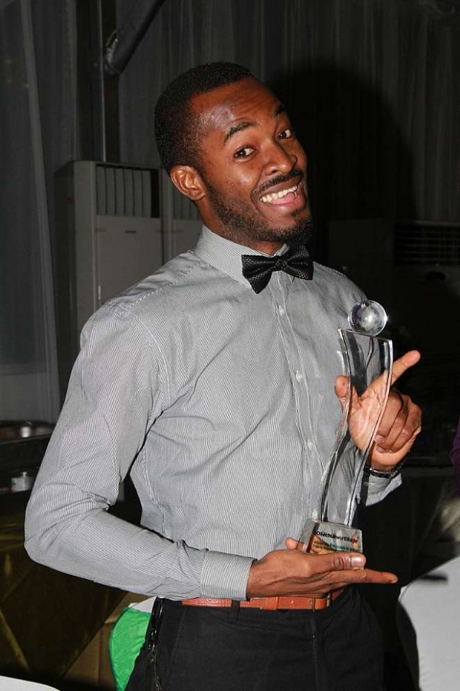 OC Ukeje wraps up spectacular year with the ultimate prize The Future Awards Prize in Entertainment Talent, beating Ice Prince & Iyanya