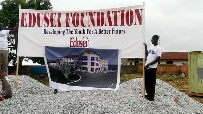 Edusei Foundation Cuts Sword For International Center