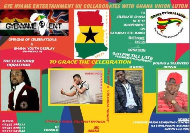 Obrafour & Others To Perform at Ghana 57 @ 57th Independence Celebration, March 8th In Luton