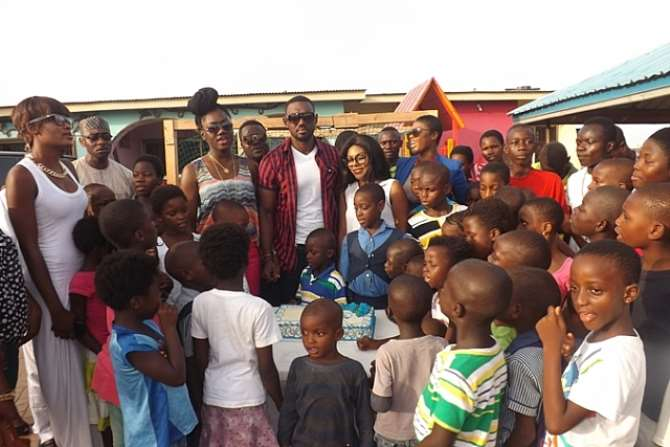 EDDIE WATSON CELEBRATES BIRTHDAY AT THE NEW LIFE ORPHANAGE HOME