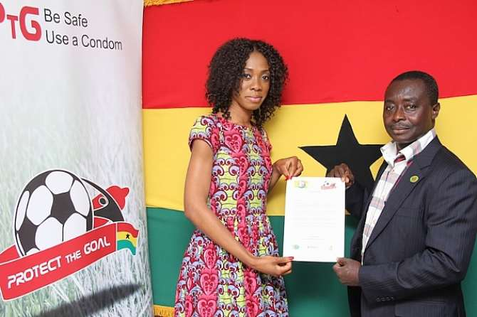 Juliet Bawuah signs up to UNAIDS' Protect the Goal campaign