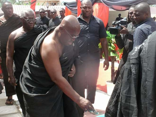 Nana Addo Joins Hon. Annor Dompreh To Mourn Late Father