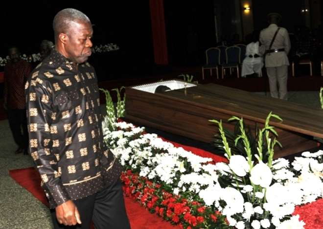 Veep Pays Last Respect To PV Obeng