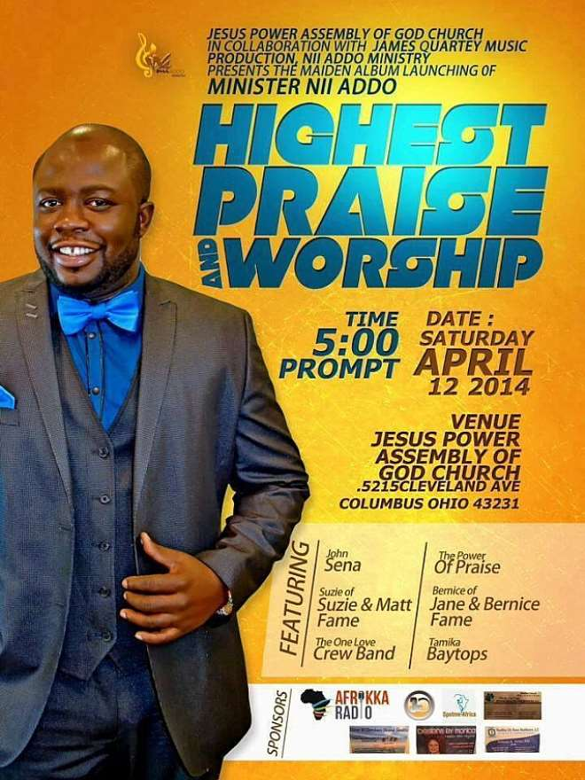 Minister Nii Addo Launches First Album on April 12 In USA