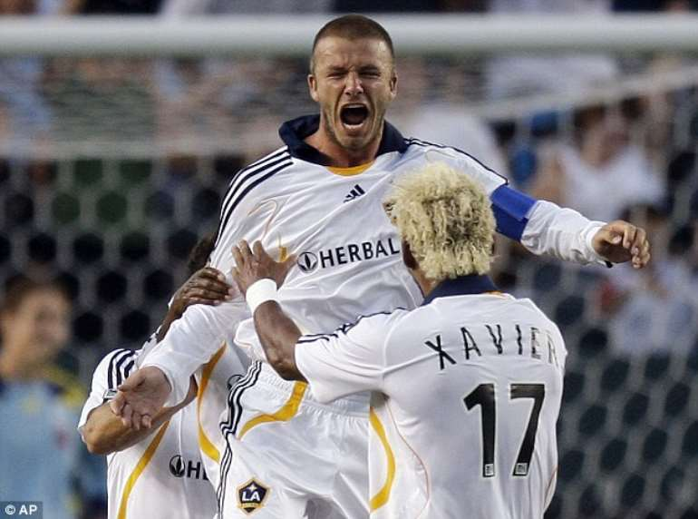 Xavier played alongside David Beckham at Los Angeles Galaxy in the United States before retiring in 2008