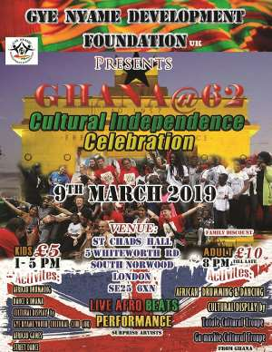 Ghanaian culture to be celebrated in London on Independence day
