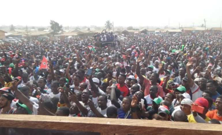 NDC supporters at the unity walk