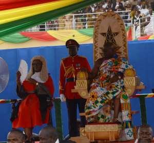 President Nana Addo Dankwa Aufo-Addo and the Chief Justice (left)