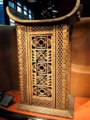 Throne of King Ghézo, Abomey, Dahomey, Republic of Benin, now in Musée du Quai Branly, Paris, France, to be returned to Benin.