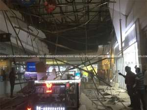 Part Of Accra Mall Ceiling Collapses