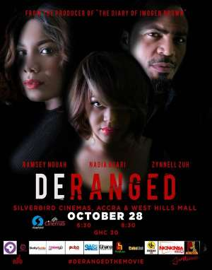 Nadia Buari's Deranged Premieres October 28