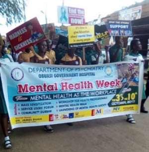 Obuasi Marks Mental Health Awareness Week