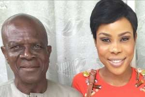 Actress, Uzo Osimkpa Bids Father Farewell as he is Laid to rest