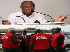 Top: Lai Mohammed, Nigeria Information Minister, and below, EFCC officials