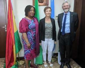 Foreign Minister Shirley Ayorkor Botchwey [Left] engaged the Head of the EU Delegation to Ghana