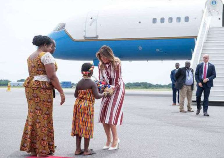 First Lady Of United States Of America Arrives In Ghana
