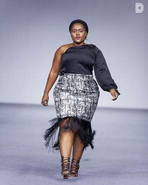 Glitz Fashion Week: Comedienne Jacinta Hits The Runway In Full Glamour + Photos