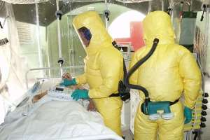 Ebola-isolation room in America but in Africa, the story is different