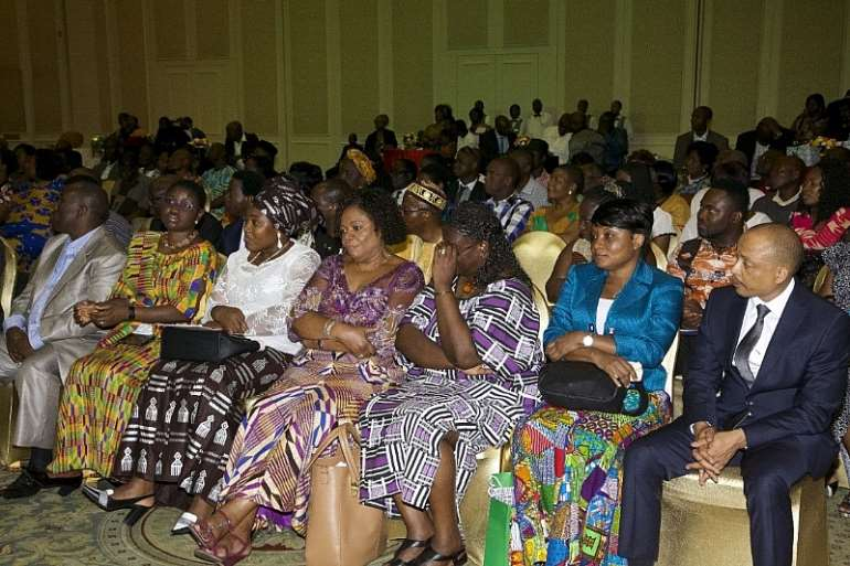 A cross-section of Ghanaian residents in Botswana listening to President Mahama 4 years ago.
